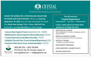 Ad for Crystal Cruises