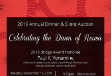 2019 Annual Dinner & Silent Auction, 'Celebrating the Dawn of Reiwa'