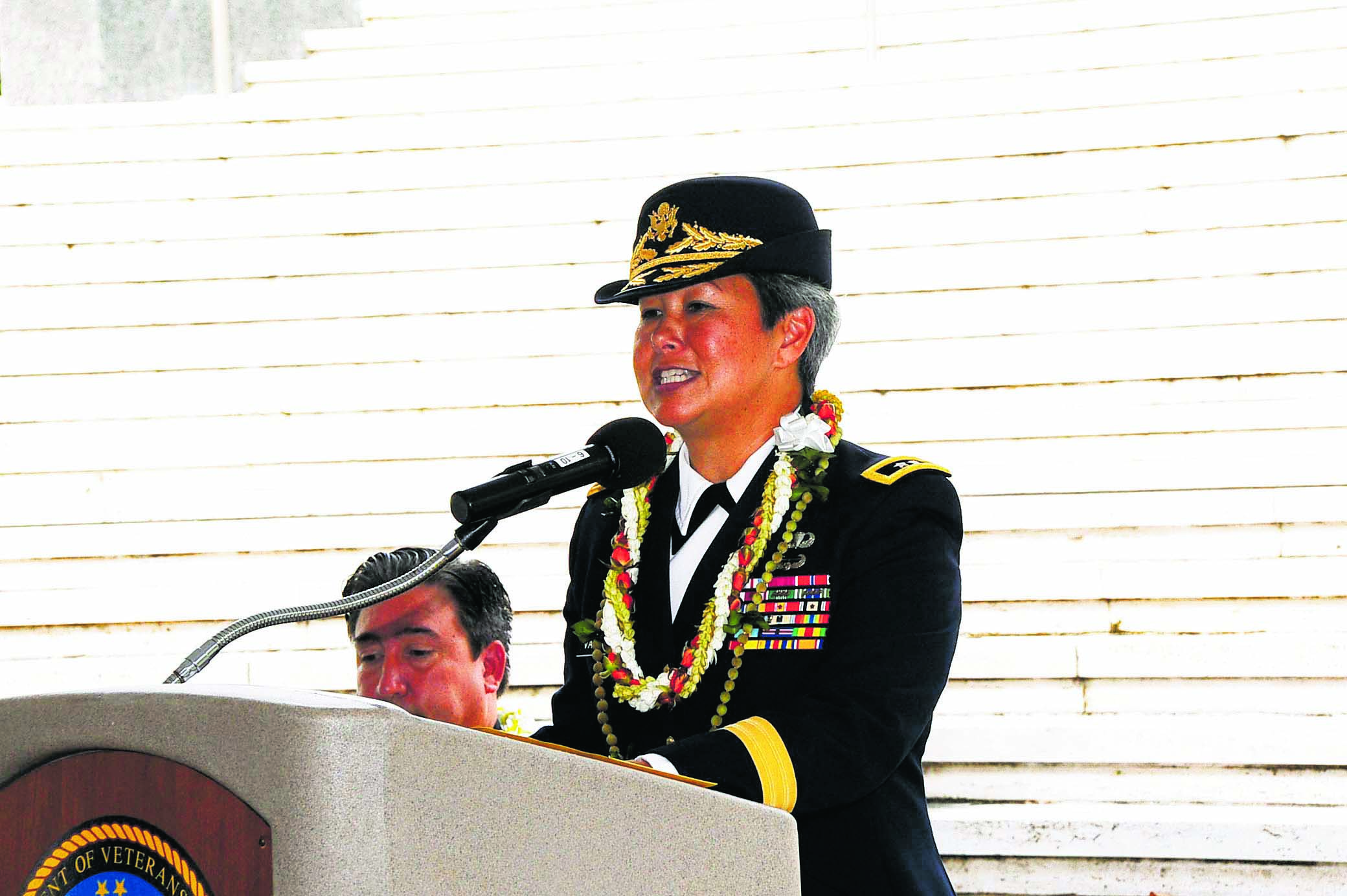 Maj. Gen. Vares-Lum, mobilization assistant to the commander of the U.S. Indo-Pacific Command, delivered the memorial address at the National Memorial Cemetery of the Pacific at Punchbowl on Sept. 28. The text of her speech will be published in a future edition of The Hawai'i Herald.