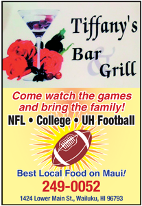 Ad for Tiffany's Bar and Grill on Maui