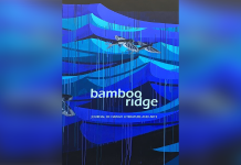 Book cover, titled 'Bamboo Ridge, Journal of Hawaii Literature and Arts'