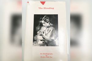 Book cover for 'The Blending' an Autobiography by Evelyn Yoki Tan