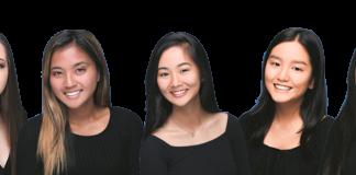 67th Chrysanthemum festival contestants: Alexis Camara, Emma Mika Endo, Cassidy Hanano, Lauren Mitra, Kokoro Yamazaki