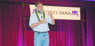 """""""Life is better in a garden . . . . Gardens are about growth,"""" said keynote speaker Dr. William Thomas. He described Project Dana as a """"happiness engine"""" because of the mutual satisfaction and compassion felt by both the volunteers and the frail elders they serve."""