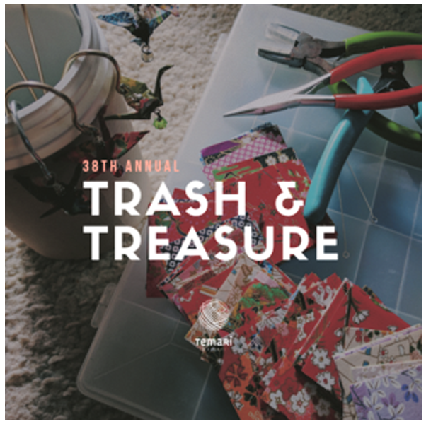 Promo and graphic for '38th Annual Trash and Treasure' Fair for Temari Hawaii