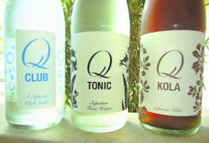Tatsumoto recommends club soda, tonic water and mixers from Q Drinks when creating cocktails.