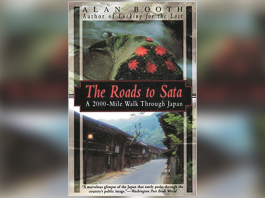 Book cover with title 'The Roads to Sata, A 2,000-Mile Walk Through Japan' buy Alan Booth