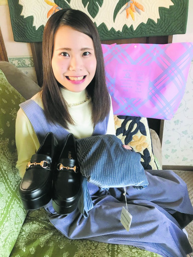 Mizuki with her half-off bargains that totaled ¥15,000 ($138.65).