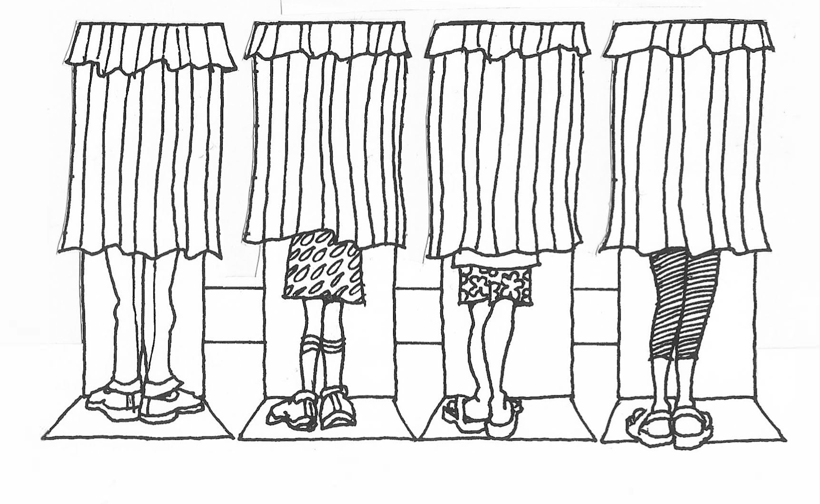 Illustration of voter in voting booths for the upcoming 2020 political elections
