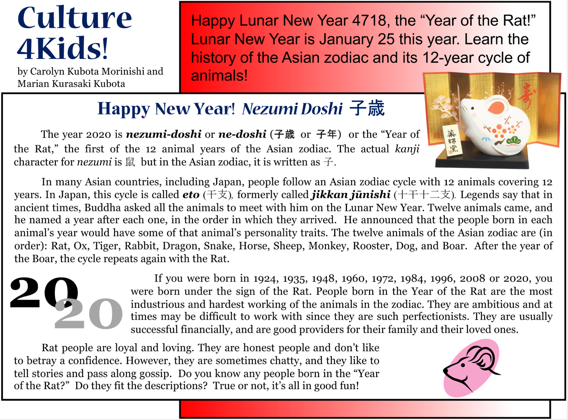 Culture4Kids! 'Happy New Year! Nezumi Doshi'