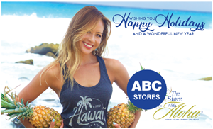 Ad for ABC Stores 'Wishing you Happy Holidays and a wonderful New Year'