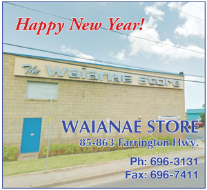 Ad for the Waianae Store 'Happy New Year!'