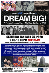 Ad for 'Dream Big! A Post War Success Story: The Nisei Soldiers of WWII'