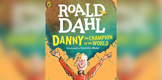 Book cover titled 'Danny the Champion of the World' by Roald Dahl
