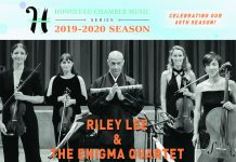 Flyer for Honolulu Chamber Music Series featuring 'Riley Lee & The Enigma Quartet'
