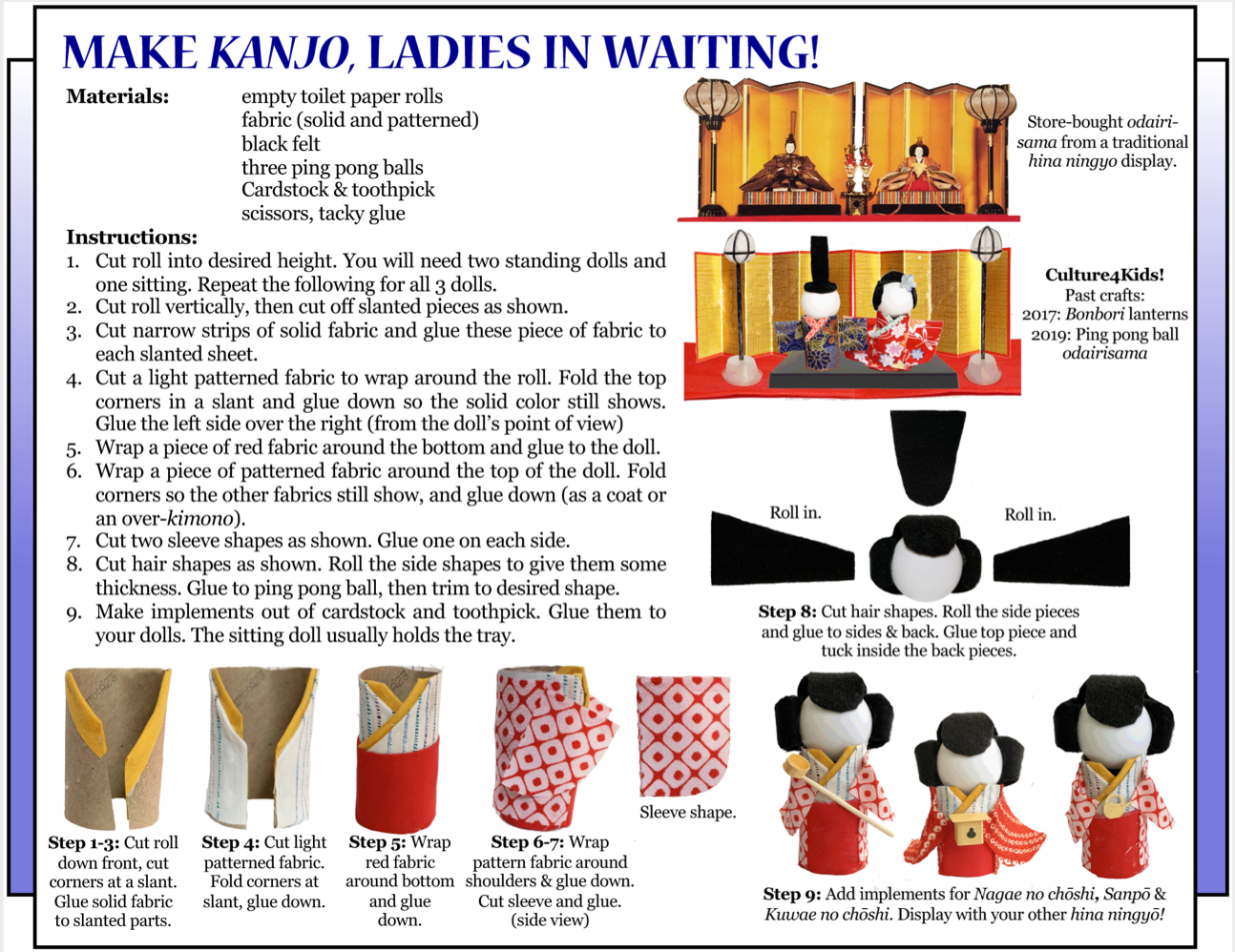 Culture 4Kids! - 'Make Kanjo, Ladies in Waiting!'