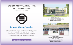 Ad for Dodo Mortuary, Inc. & Crematory