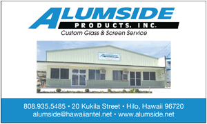 Ad for Alumside Products, Inc. 'Custom Glass and Screen Service'