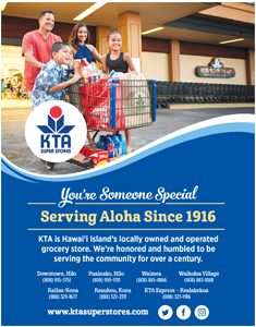 Ad for KTA Super Stores 'You are Someone Special, Serving Aloha Since 1916'