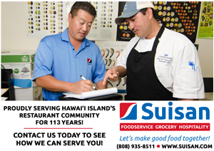 Ad for Suisan foodservice, grocery, and hospitality company.