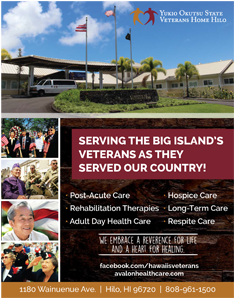 Ad for Yukio Okutsu 'Serving the Big Island's Veterans as they Served Our Country'