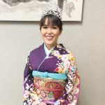 Queen Lauren Sugai at the Jan. 12 opening ceremonies of the 2020-2021 Cherry Blossom Festival, which was held at the Japanese Cultural Center of Hawai'i. (Photos courtesy Honolulu Japanese Junior Chamber of Commerce).