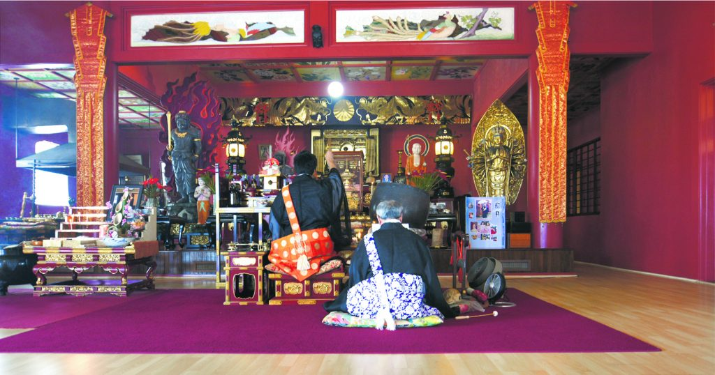 Hanamatsuri is a time when Buddhists of all denominations celebrate the birth of the Buddha. Bishop Cosmo Hirai (left) and his father, Rev. Toshihiko Hirai, conducting last year's service.