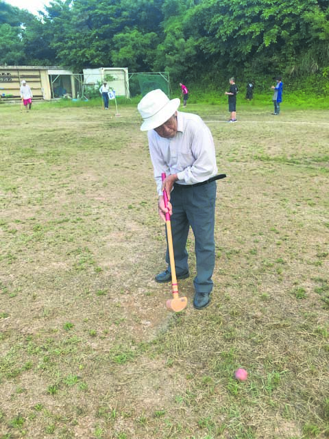 Ground Golf was the first of many games played at the 46th annual Nagahama Kumin Undökai, or Nagahama Residents Sports Day.