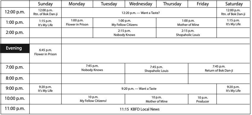 Weekly KBFD Table, April 17, 2020 TV Guide issue