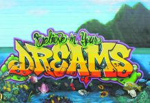 """The """"Believe In Your Dreams and Spray Away Meth"""" workshop and mural were Trysen """"TK"""" Kaneshige's senior year project at Kaua'i High School. (Photo by Trysen Kaneshige)"""