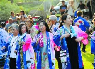 Bon dance festival 2019 at Hawaii's Plantation Village. (Photo by Wayne Shinbara)