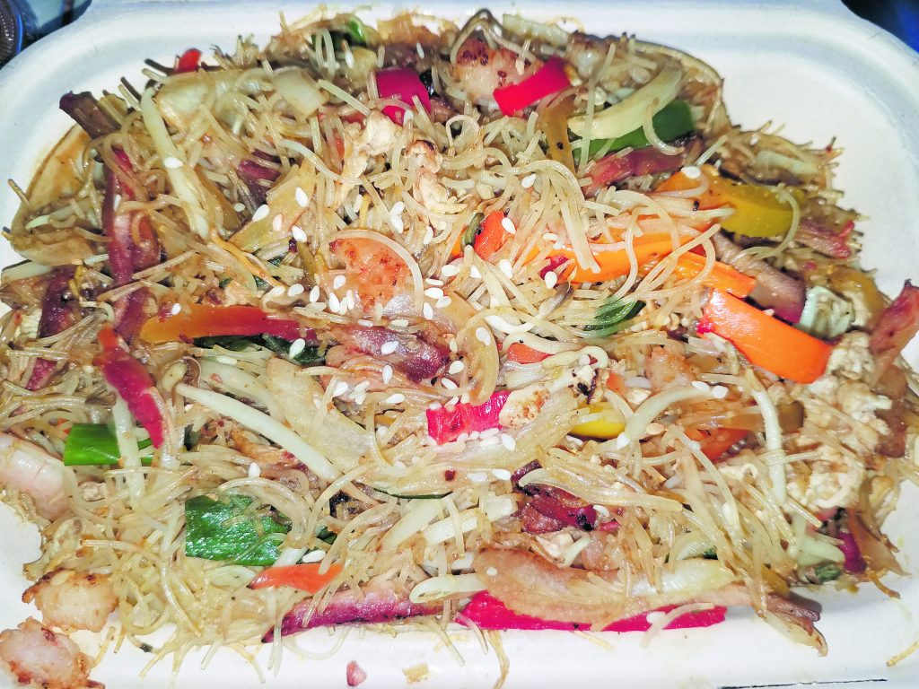 Singapore mai fun (thin noodles) from Pah Ke's Chinese Restaurant in Käne'ohe.