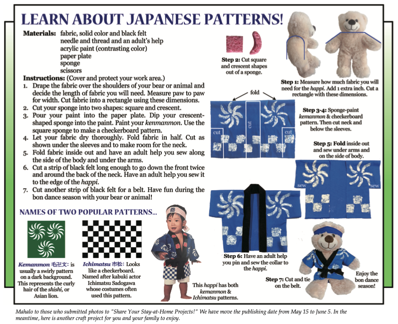 Culture4Kids! 'Learn About Japanese Patterns!' for 5/15/2020 issue