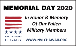 Ad for Nisei Veterans Legacy, 'Memorial Day 2020, In Honor & Memory of Our Fallen Military Members'