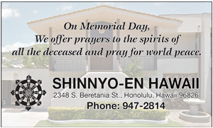 Ad for Shinnyo-En Hawaii