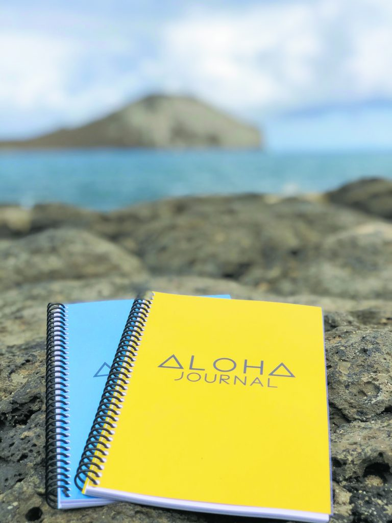 """""""The goal of the 'Aloha Journal' is to experience aloha daily by living and sharing the best version of yourself,"""" said creator Danny Kim."""