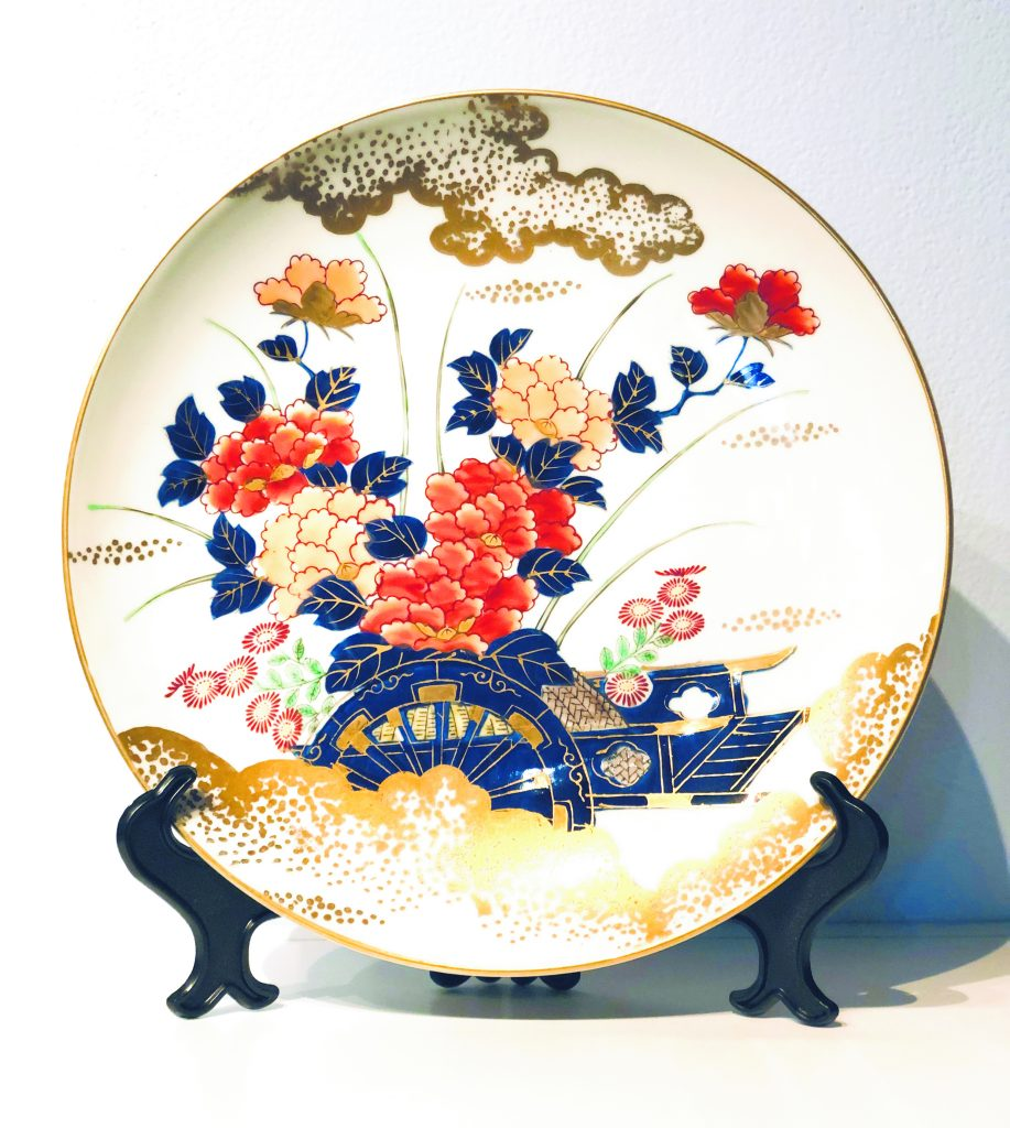 Imari plate ($75), one of the many items on sale at the Japanese Cultural Center of Hawai'i Gift Shop re-opening throughout July. Inventory at discounts for both members and non-members include clothing, kitchen and dishware, gift items, and ceramics.(Photo courtesy of JCCH)