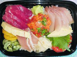 Sansei Seafood Restaurant and Sushi Bar's Chirashi Sashimi available at Vino Italian Tapas and Wine Bar ($19.95) while Sansei remains shuttered. (Food photos courtesy of Ryan Tatsumoto)
