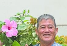 Seasoned gardener Rodney Nakashima, a proud Local 5 union member, shows off the fruits of his labor in the Princess Kaiulani hotel nursery. (Photo provided by Rodney Nakashima)