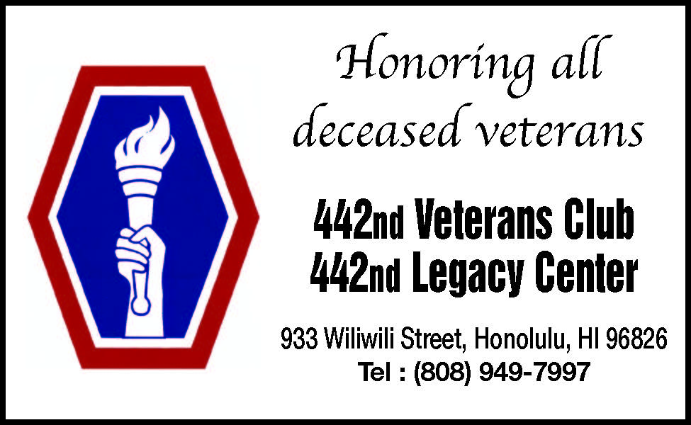 442nd Memorial Day ad