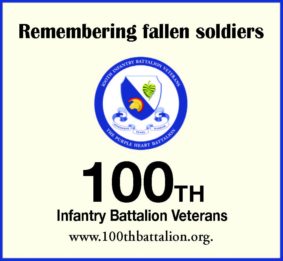 100th Battalion Memorial Day ad