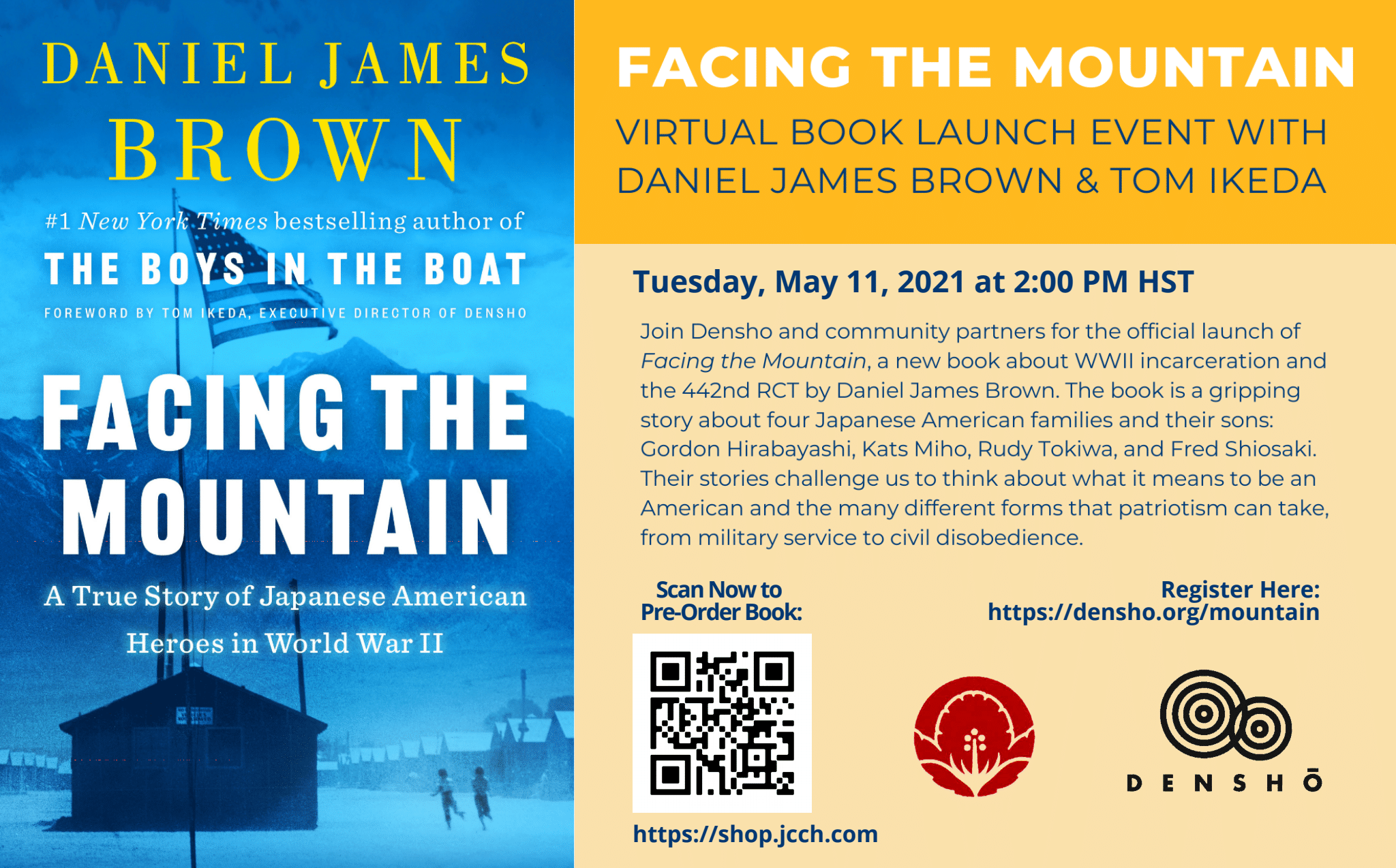 virtual book launch event with daniel james brown and tom ikeda