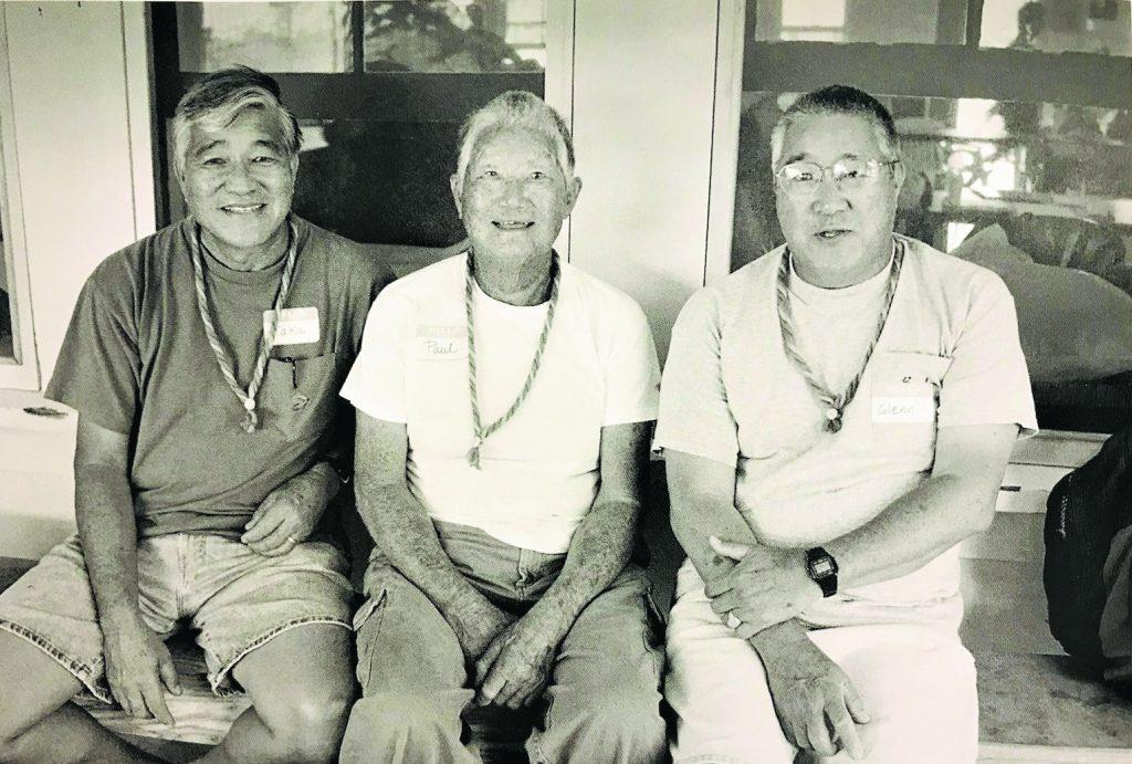 Brothers (from left) Takayuki, Paul and Glenn Harada in Kalaupapa. (Photo by Wayne Levin)