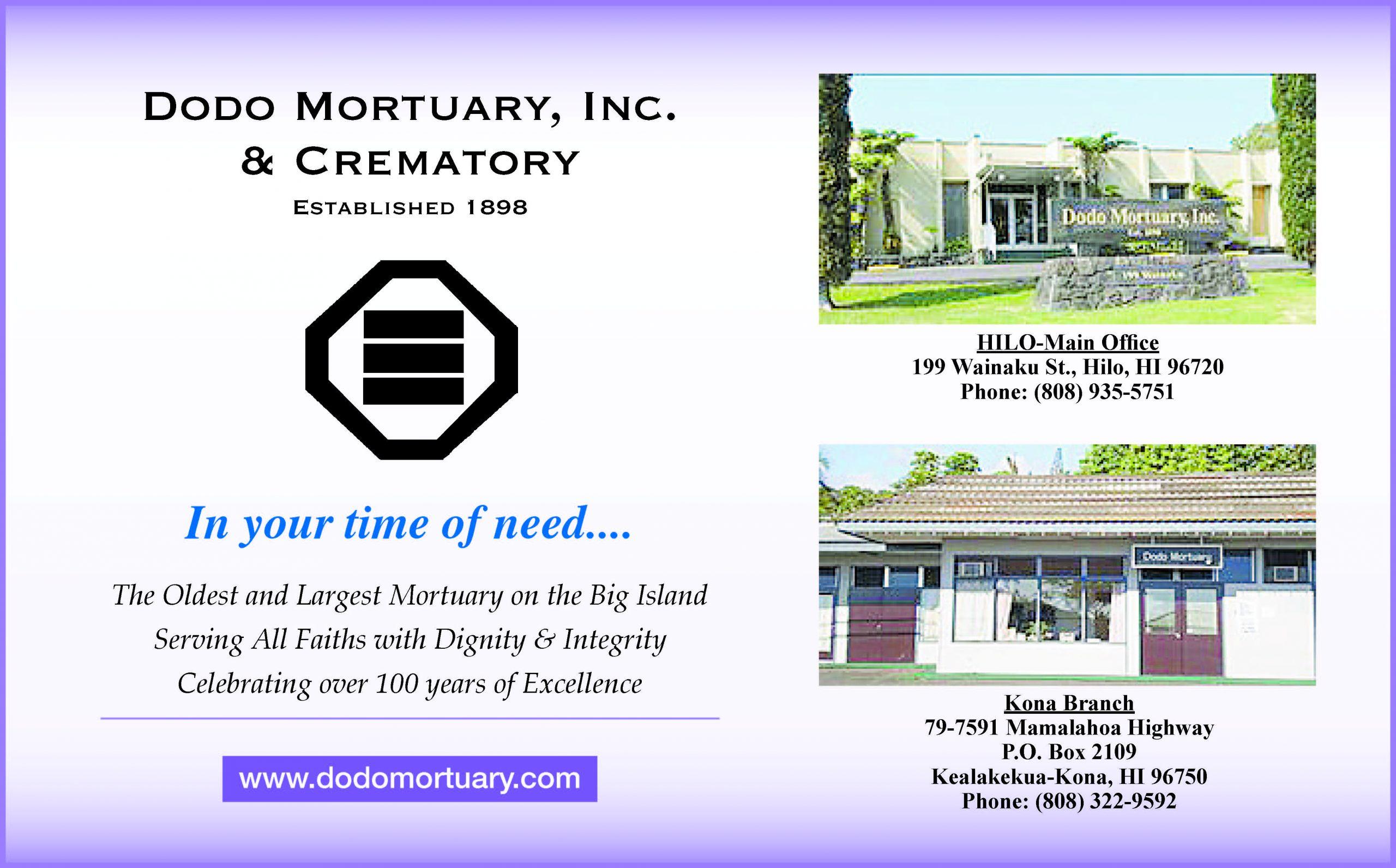 Dodo Mortuary Ad