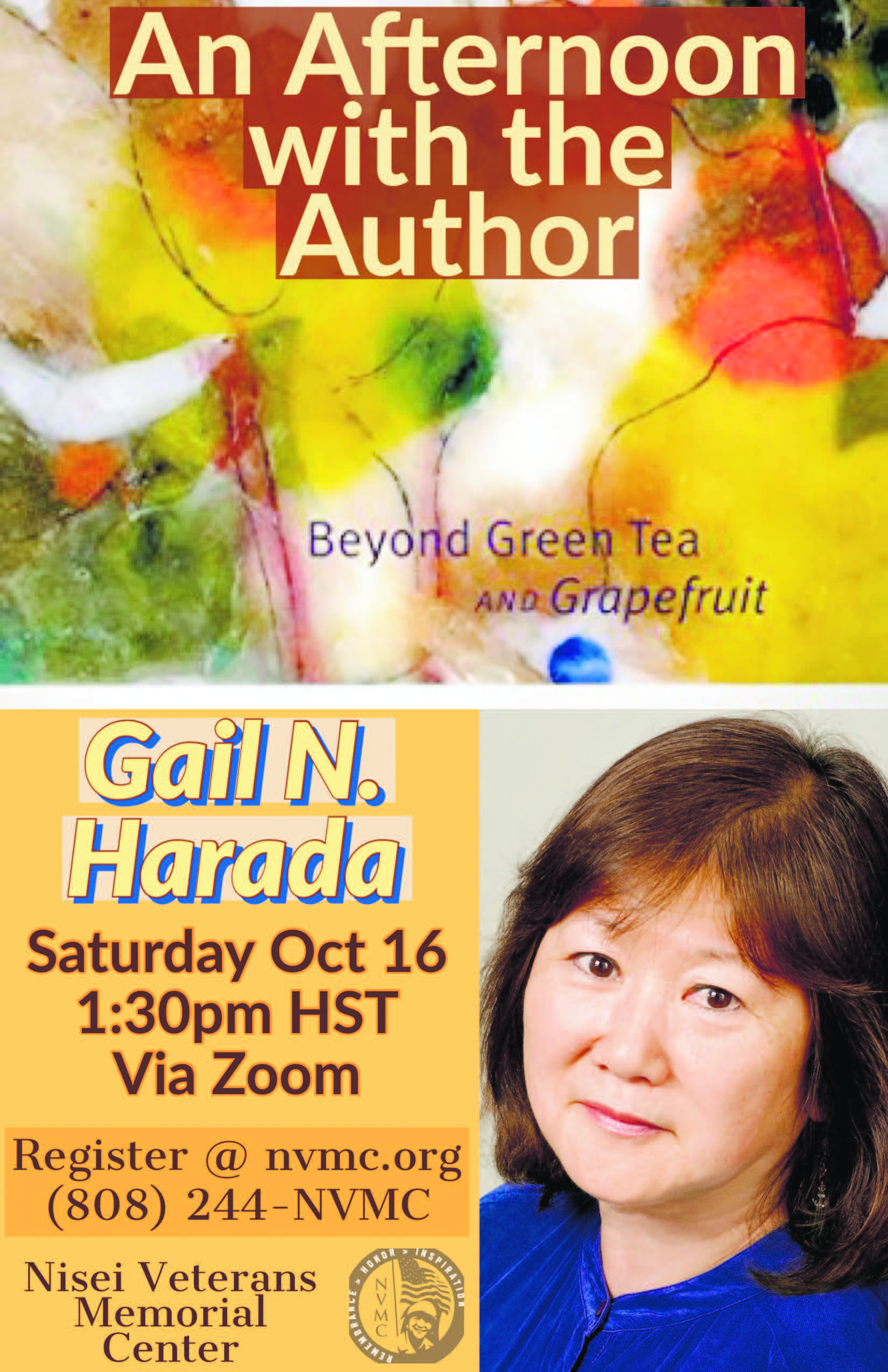 Afternoon with author Gail N Harada