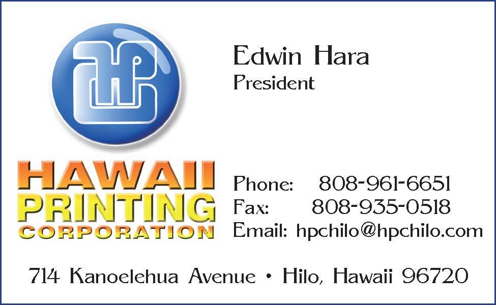 Hawaii Printing corp Ad