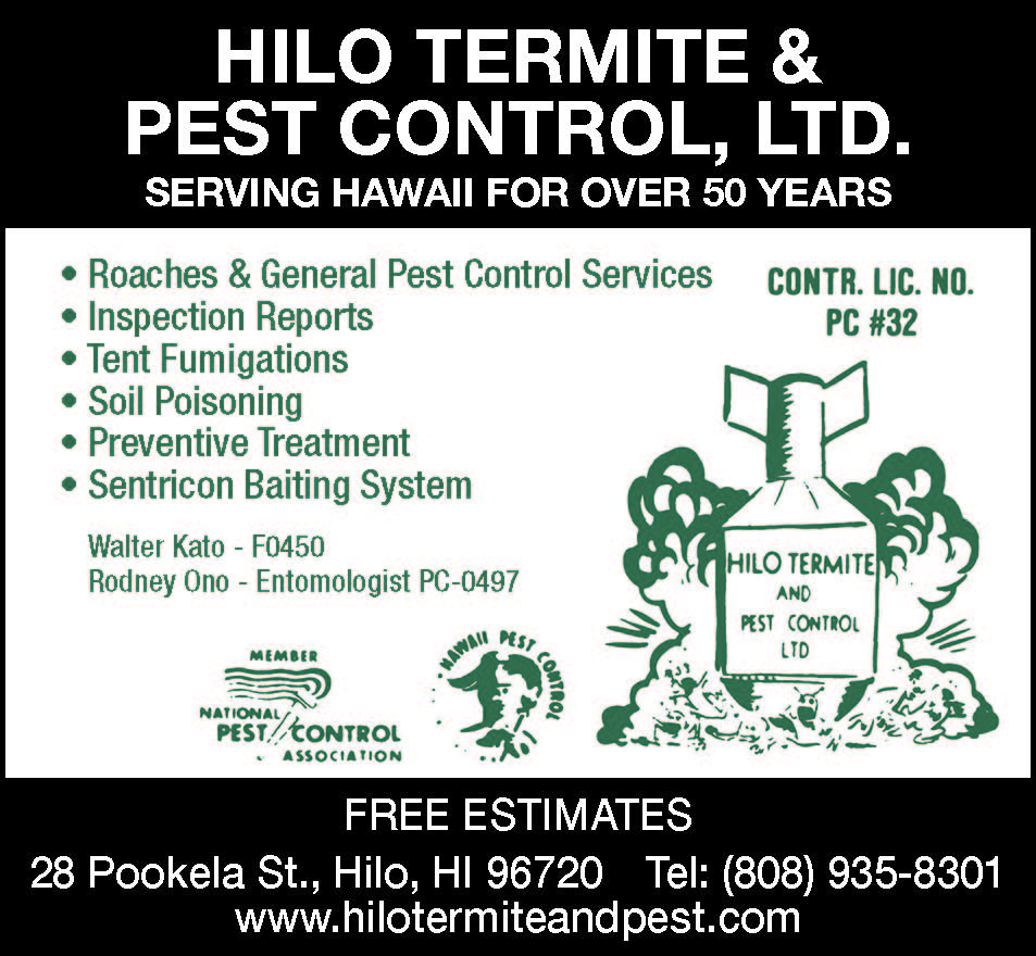 Hilo termite and pest Ad