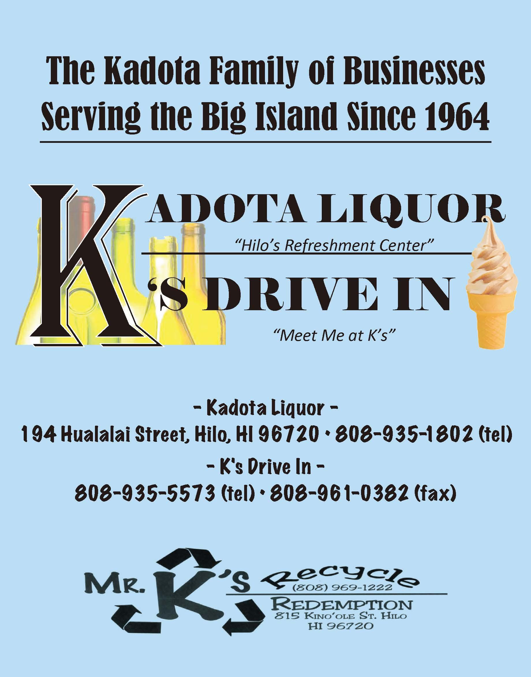 Kadota Liquor Ad