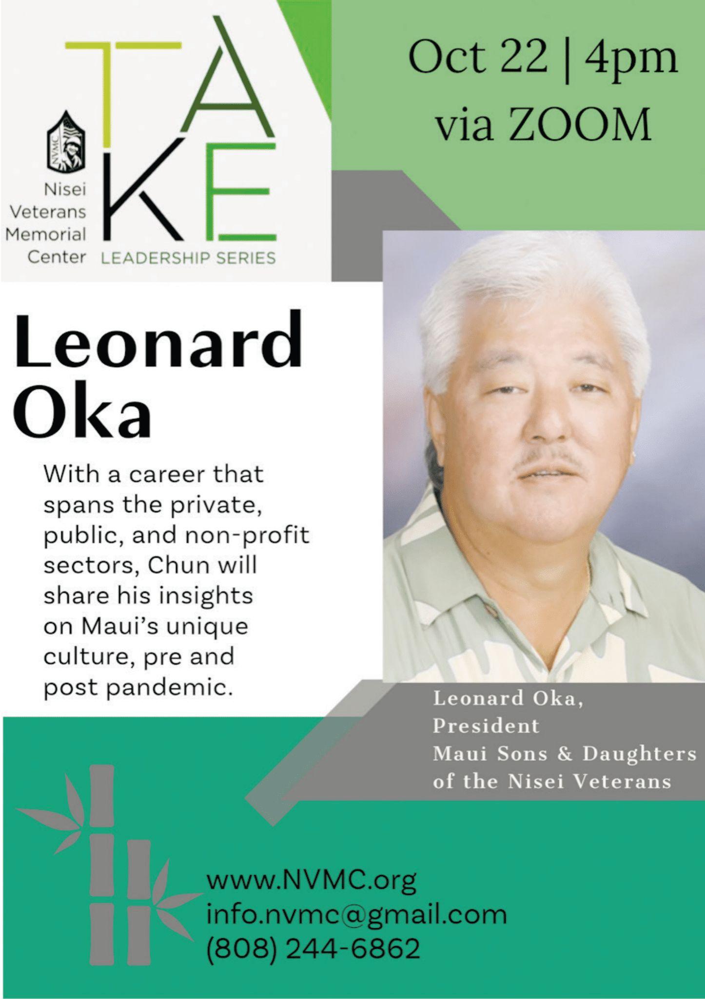 Take Leadership Series - Leonard Oka